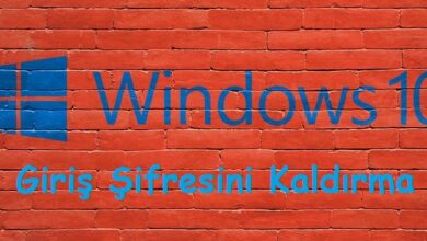 Windows 10 Giriş Şifresini Kaldırma