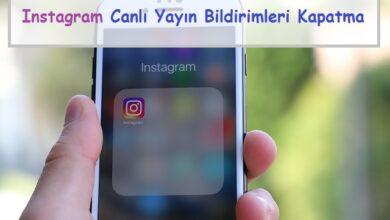 instagram canlı yayın bildirimleri kapatma