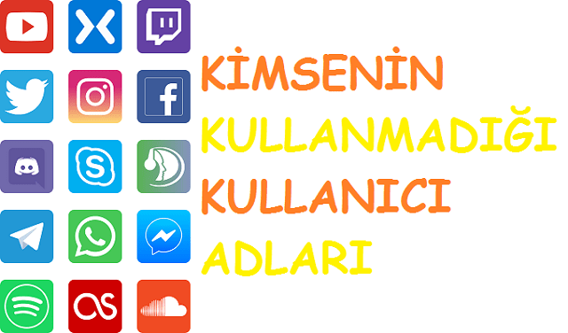 kullanıcı adları