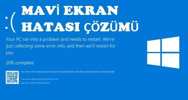 Windows mavi ekran hatası