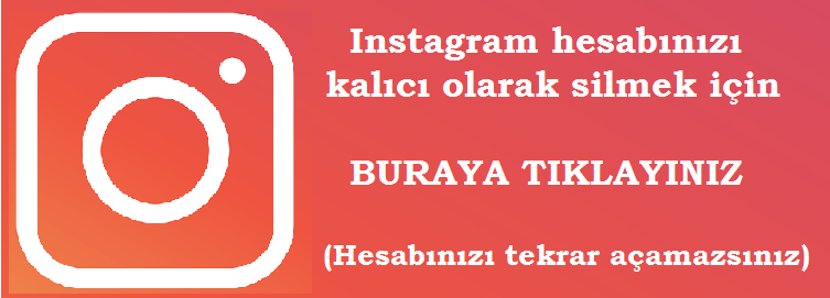 instagram silme