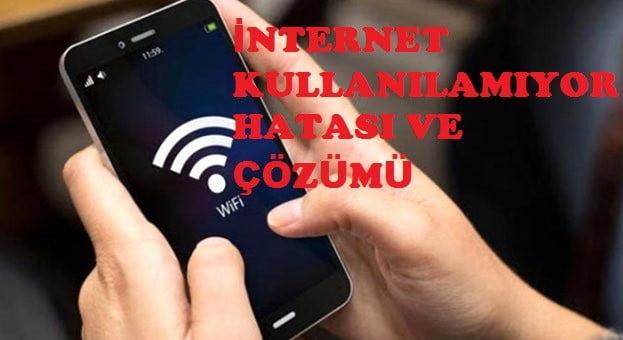 internet kullanılamıyor