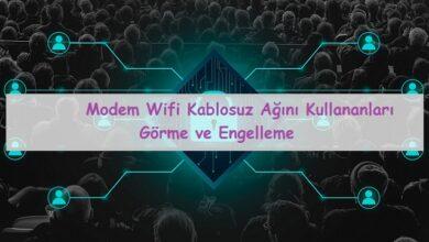 wifi ağını kullananları görme ve engelleme