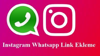 instagram whatsapp link ekleme