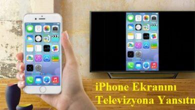 iphone ekran yansıtma