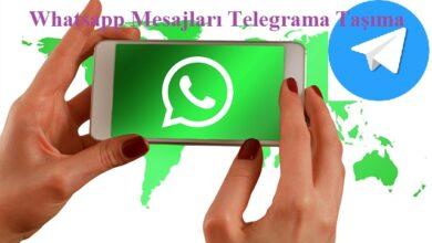 Whatsapp mesajları Telegrama taşıma