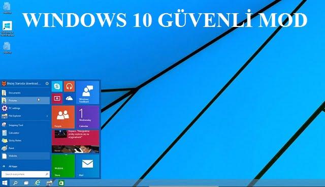 windows 10 guvenli mod