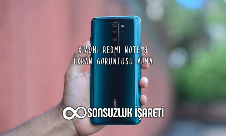 Xiaomi Redmi Note 8 Ekran Görüntüsü Alma