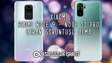 Redmi Note 9 - 10 Pro Ekran Görüntüsü Alma