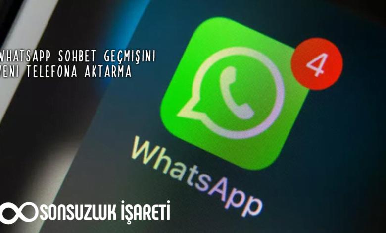 Whatsapp Sohbet Geçmişini Yeni Telefona Aktarma