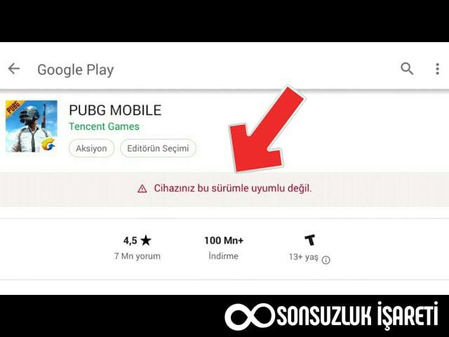 Google Play PUBG Mobile Hatası
