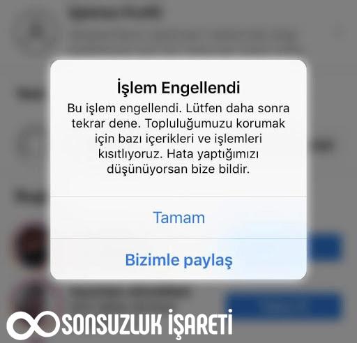 Instagram İşlem Engellendi Hatası