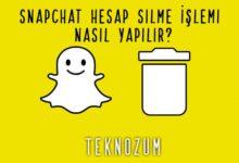 Snapchat Hesap Silme İşlemi Nasıl Yapılır?